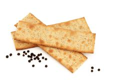 Salt and Pepper Crackers Stock Photos