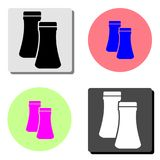 Salt and pepper. flat vector icon royalty free illustration