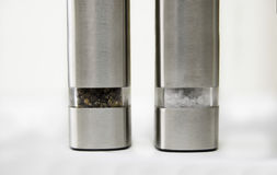 Salt and Pepper grinder. S on white background Stock Photo