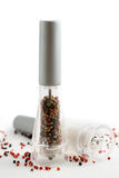 Salt and pepper grinders Royalty Free Stock Photography