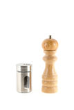 Salt and pepper grinders isolated on white background Stock Images