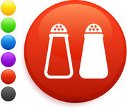 Salt and pepper icon on round internet button Stock Photo