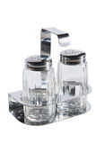Salt and pepper jar set Stock Photos