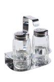 Salt and pepper jar set Stock Photos