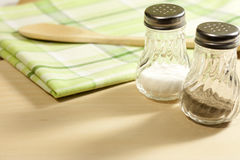 Salt and pepper in the kitchen Royalty Free Stock Image