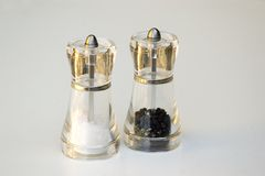 Salt and pepper mill Royalty Free Stock Photography