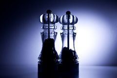 Salt and Pepper mill Royalty Free Stock Image