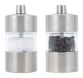 Salt and Pepper mills. Salt and Pepper mill isolated on white Stock Photography