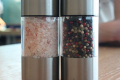 Salt and pepper mix Royalty Free Stock Images
