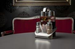 Salt, pepper, oil and vinegar Royalty Free Stock Photo