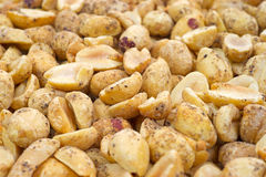 Salt and pepper peanuts Stock Images