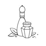 Salt and pepper. In retro style. Vector illustration Royalty Free Stock Image