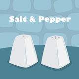 Salt and pepper shaker Stock Photo