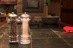 Salt and pepper shaker Stock Image