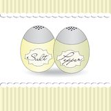 Salt and pepper shaker background romantic, vector Stock Image