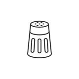Salt or pepper shaker. In outline icon Royalty Free Stock Photo