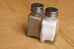 Salt and pepper shaker Royalty Free Stock Images