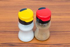 Salt and pepper shaker stock photography