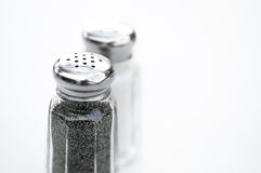 Salt and pepper shakers Royalty Free Stock Images