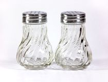 Salt and pepper shakers Stock Images