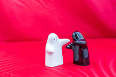 Salt and pepper shakers. Beautiful and funny salt and pepper shakers Stock Photo