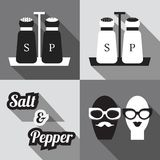 Salt and Pepper shakers icons Royalty Free Stock Photography