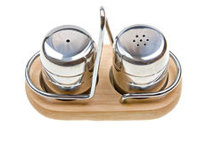 Salt and pepper shakers isolated on white Stock Images