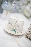 Salt and pepper shakers wedding decoration Stock Photo
