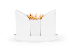 Salt and pepper shakers on a white background, together with too Royalty Free Stock Photo
