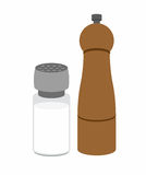 Salt and pepper shakers. On a white background. Vector illustrat Royalty Free Stock Photography