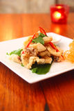 Salt and pepper squid. Delicious appetizer salt and pepper squid royalty free stock photography