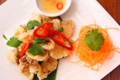Salt and pepper squid. Delicious appetizer salt and pepper squid stock photography