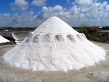 Salt pile. Waiting to be transported from a salt mine Stock Images
