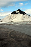 Salt pile on Parry Sound docks, Georgian Bay Stock Images