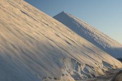 Salt pile. At sunrise, Salt industry. Torrevieja. Alicante. Spain Stock Image