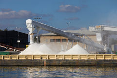 Salt Piles Stock Images