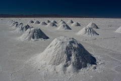 Salt piles Royalty Free Stock Photos