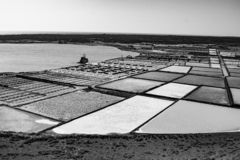 Salt piles on a saline exploration royalty free stock images
