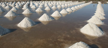 Salt of piles saline in Thailand Royalty Free Stock Photos