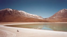 Salt Plain Explorer Salar De Uuyni Royalty Free Stock Photography