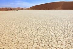 Salt plain in Sossusvlei. Namibia Royalty Free Stock Image