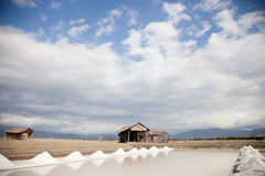 Salt plains Stock Images