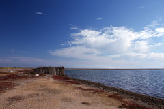 The salt plantation. The old salt plantations in the Crimea Royalty Free Stock Images