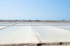 Salt plantations, Vietnam Stock Photos