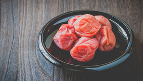 Salt plums or pickled plums Royalty Free Stock Image