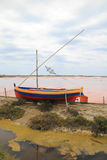 Salt ponds in Gruissan, France. Stock Photography