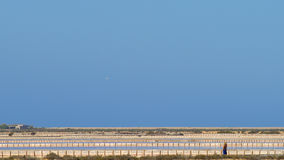 The salt ponds of Ibiza. Stock Image