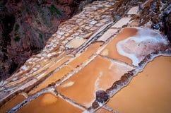 Salt ponds, Maras, Cuzco, Peru Royalty Free Stock Image