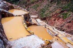 Salt ponds, Maras, Cuzco, Peru Royalty Free Stock Photo
