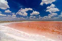 Salt Pool and Blue Sky Royalty Free Stock Photo